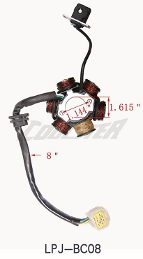 ALTERNATOR, STATOR, MAGNETO FOR ATV (POST-2017) (ALT-2) (LPJ-BC08)