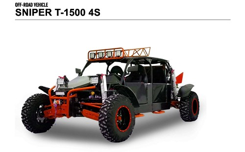 BMS Sniper T-1500 4 Seat - 5 Speed 108 HP 2x4 Buggy - Free Home Delivery